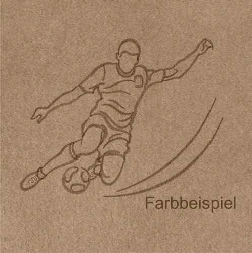Stickmotiv Fussball